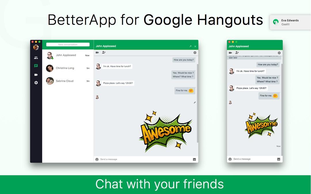 3 Minutes to Hack BetterApp - Desktop App for Google Hangouts