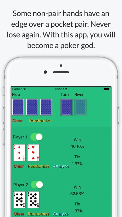 Texas Holdem Poker Odds Calculator - Calculate chances to win screenshot-3