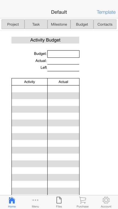 Project Schedule Screenshots