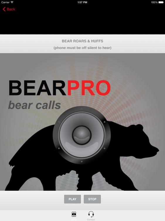 REAL Bear Calls and Bear Sounds for Big Game Hunting -- BLUETOOTH COMPATIBLE screenshot-0