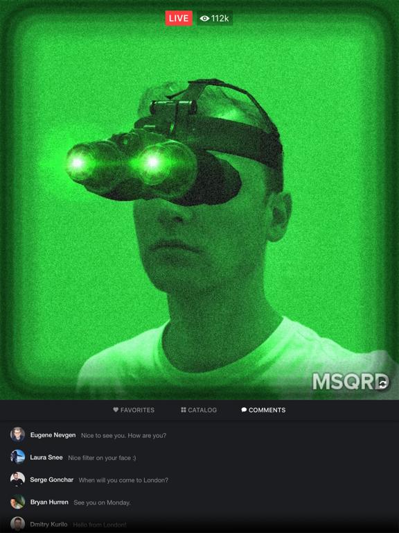 MSQRD — 自撮りビデオ用のライブフィルターとフェイススワップのおすすめ画像4