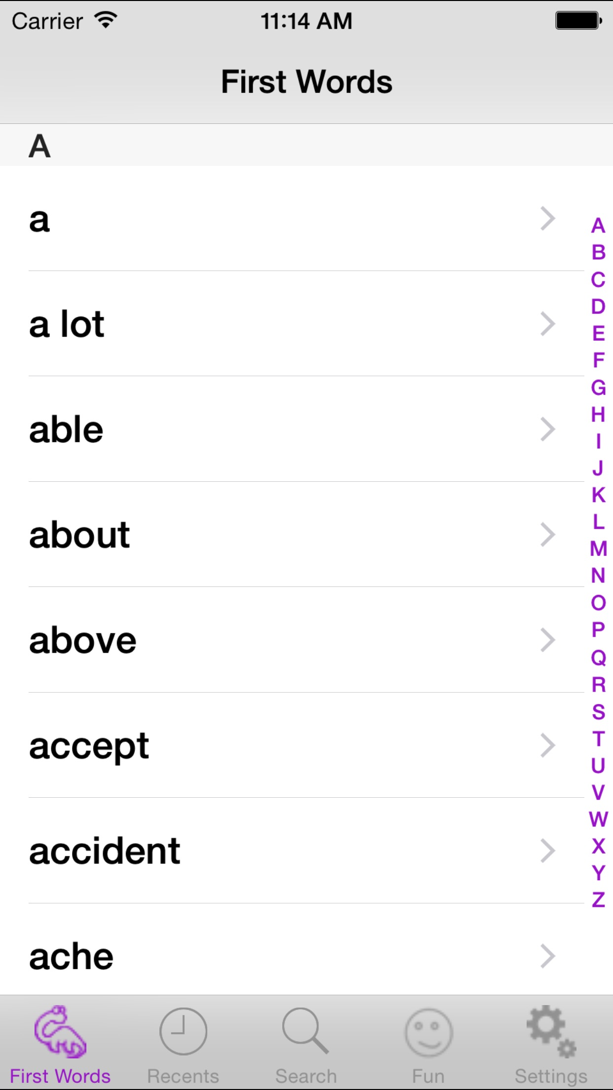 DD's Dictionary A Dyslexic's Dictionary Screenshot
