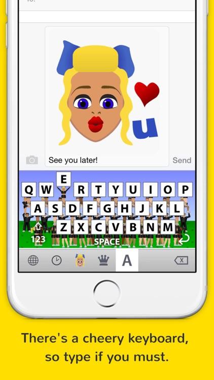 CheerKeys - the cheerleading keyboard from Cheermoji screenshot-3