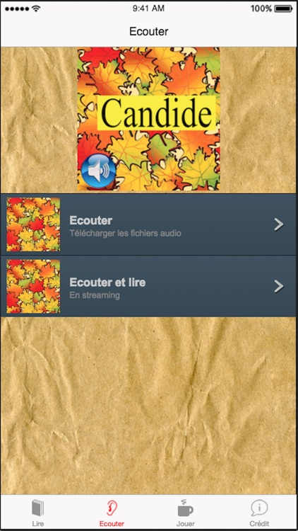 Candide (French), text + audio screenshot-1