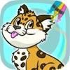 涂料和颜料动物神奇的图画书 - 涂色儿童画画书(3-6岁宝宝早教益智软件)