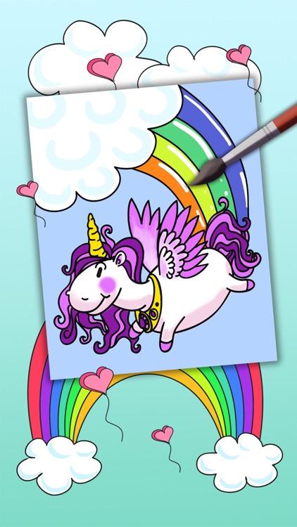 Unicorn coloring book for kids -paint & color fantastic animals - Premium screenshot-3