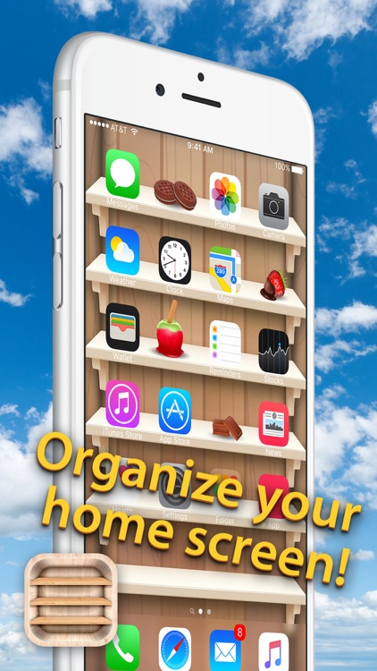 Top Shelves Wallpaper – Home Screen Backgrounds with Shelf, Frame and Sticker Decorations screenshot-3