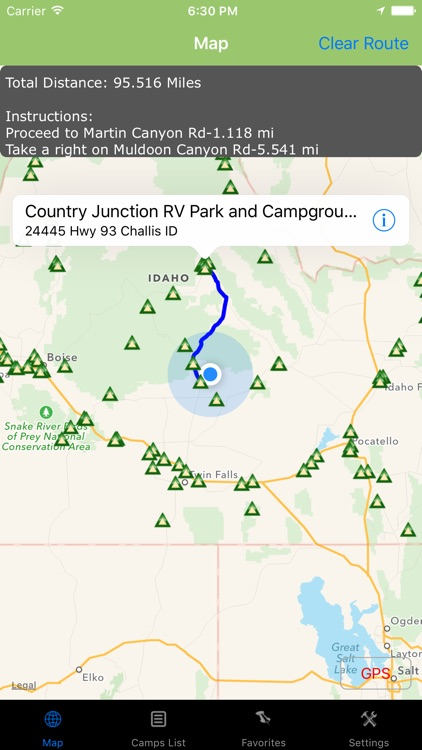 Idaho – Camping & RV spots