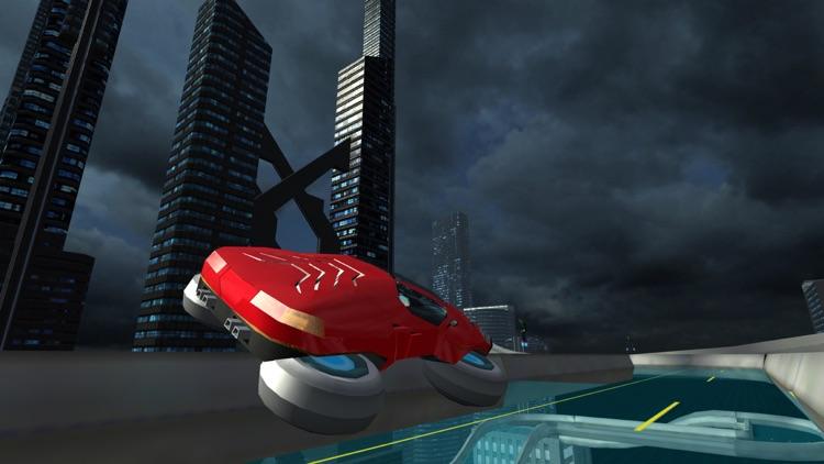 Hover Car Parking Simulator - Flying Hoverboard Car City Racing Game FREE screenshot-4