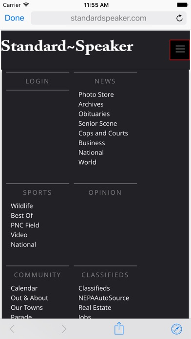 The Hazleton Standard-Speaker Screenshot on iOS