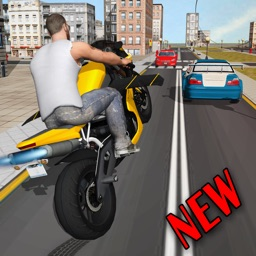 Flying Moto Traffic Racer 3d