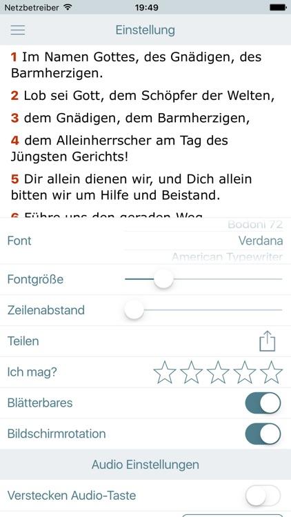 Der Koran auf Deutsch (Quran with Audio in German) screenshot-4