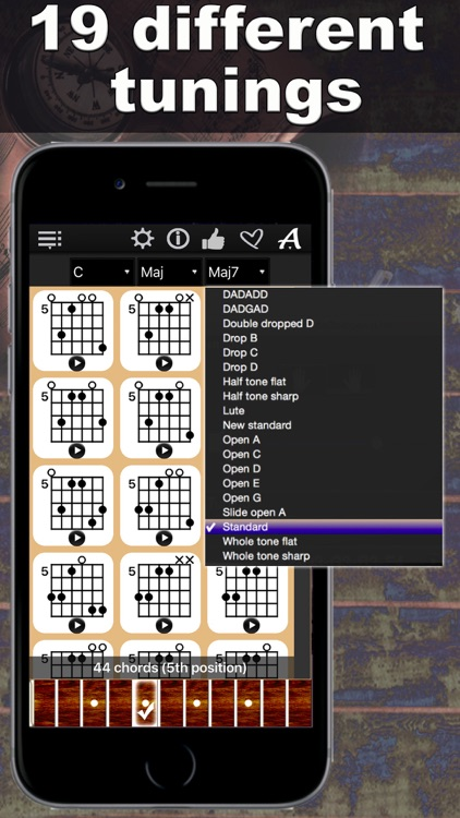Guitar Chords Compass - learn the chord charts & play them screenshot-1