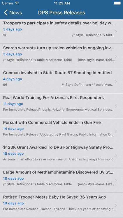 Arizona DPS Mobile screenshot-4