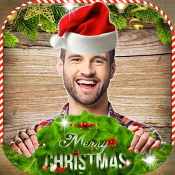 Christmas Photo Montage – Face Morph With Santa Costume Edit.or & Holiday Sticker.s