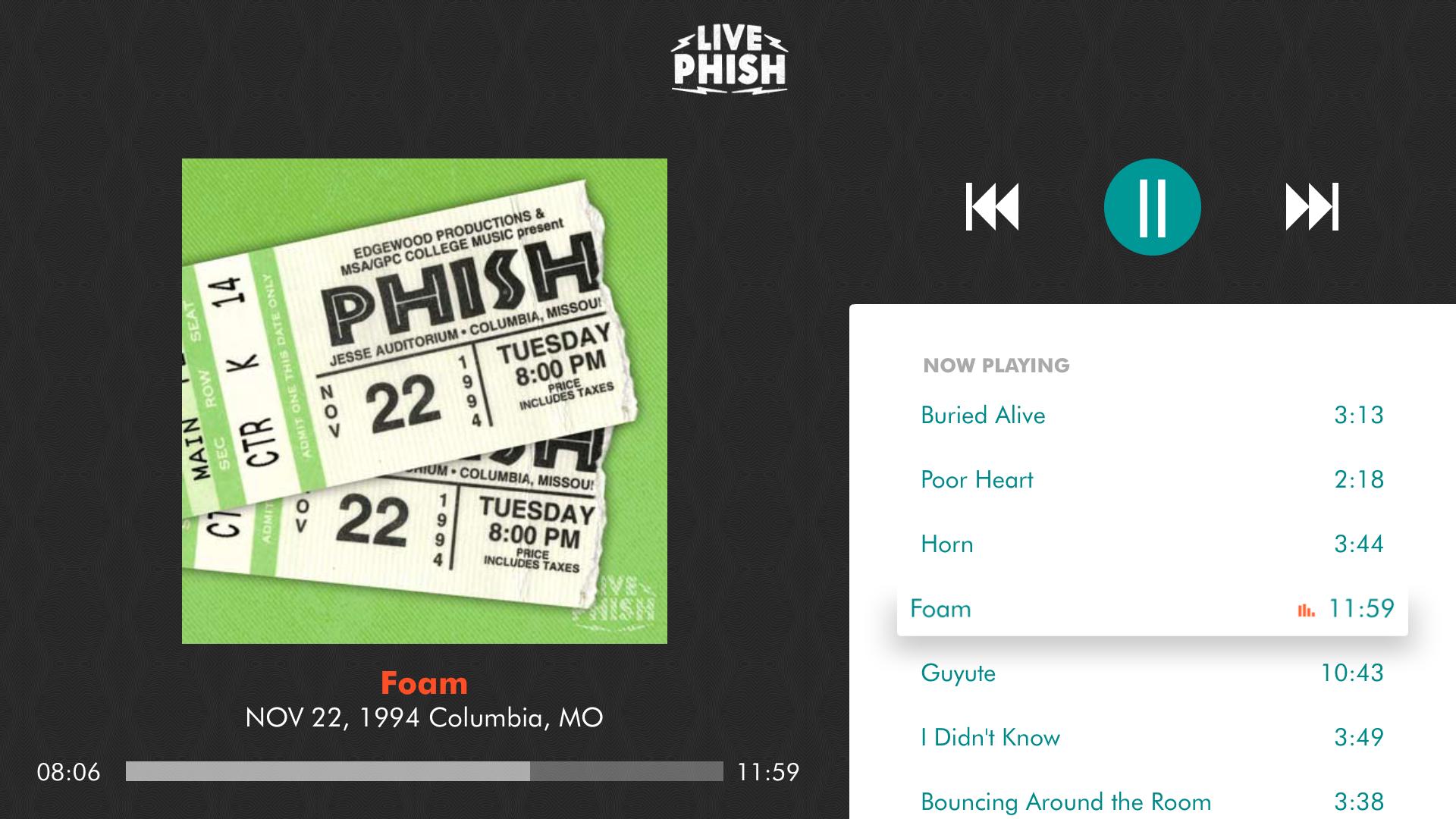 LivePhish screenshot 12