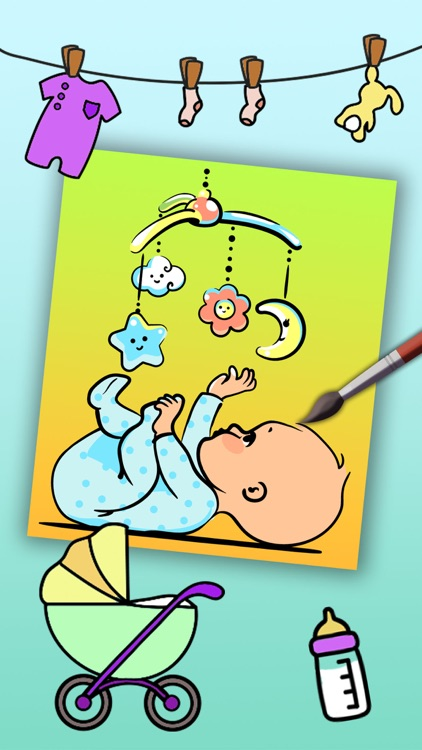 Paint Baby's Coloring Book - Color and paint new born babies drawings and paintings pictures & illustrations - Premium screenshot-2