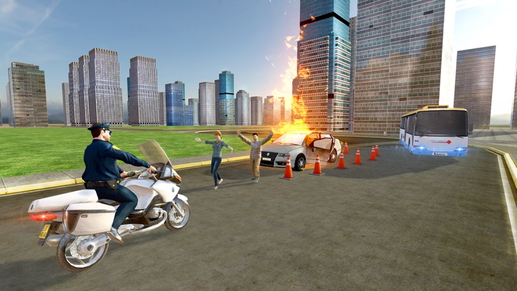 Flying Police Bike Rider 2016 - Ride & Fly Motorcyle in the City To be a Best Traffic police screenshot-3
