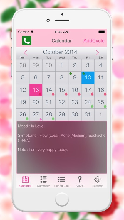 Fertility Period Tracker - Ovulation Tracker & Monthly Cycles with Menstrual Calendar screenshot-3