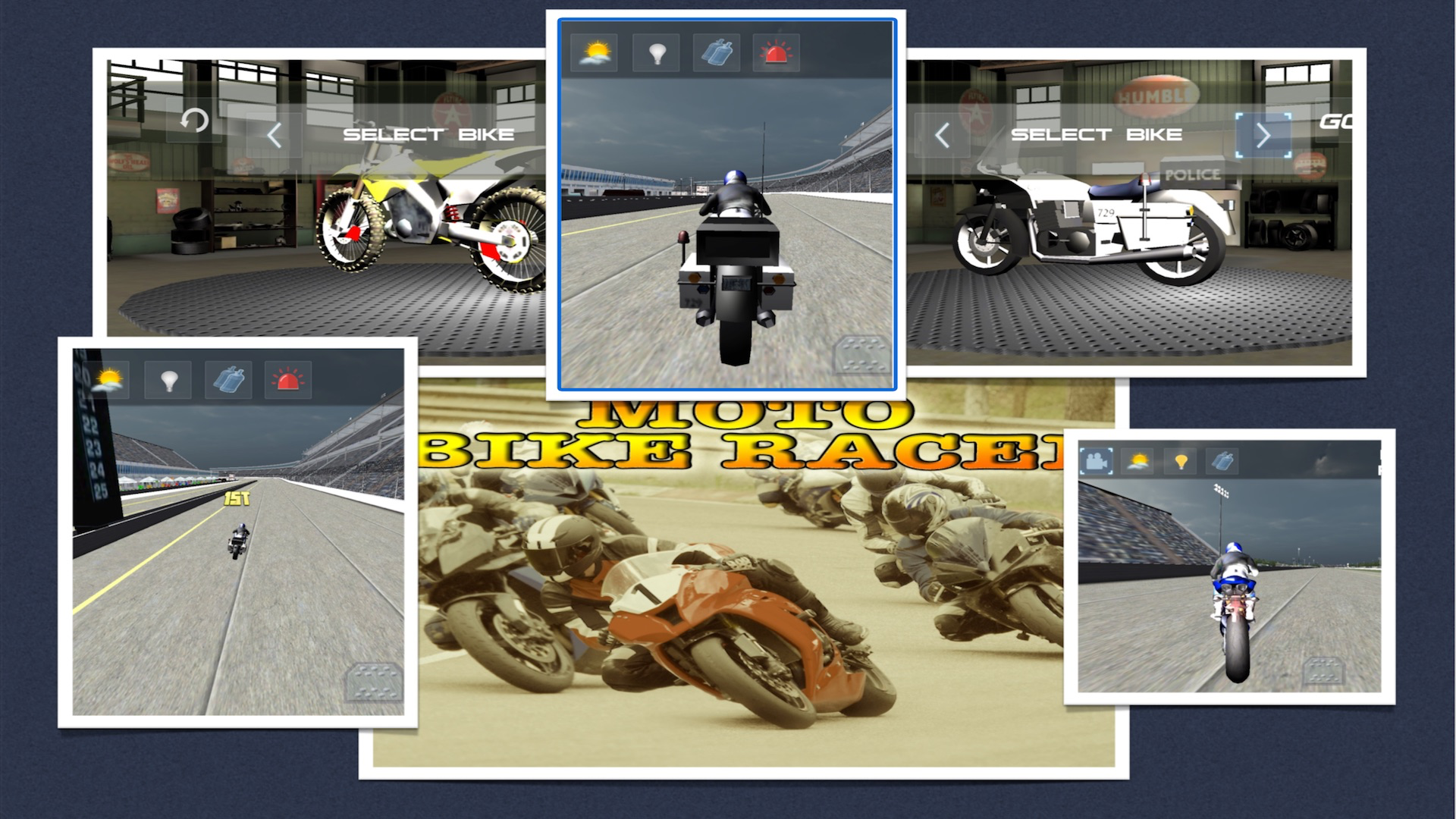 Moto Bike Racer : 3D Motorbikers Heated Chase Fun screenshot 13
