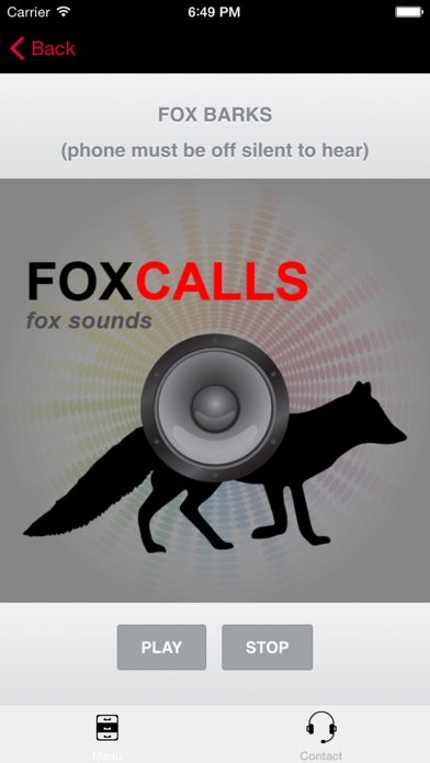 REAL Fox Calls & Fox Sounds for Fox Hunting - (ad free) BLUETOOTH COMPATIBLE screenshot two