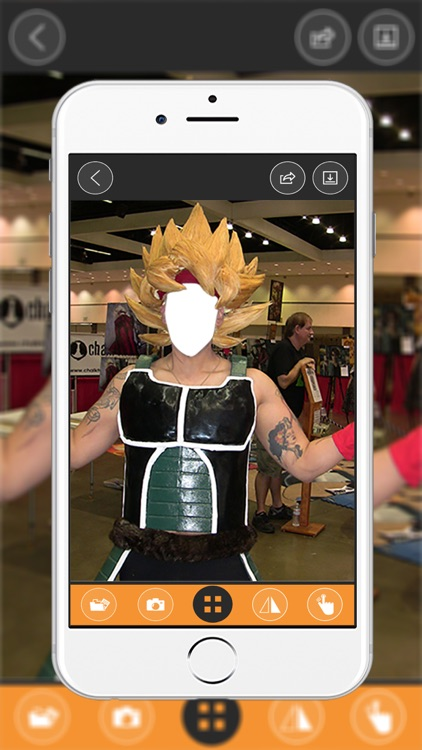 Super Saiyan Costplay Maker- New Photo Montage With Own Photo Or Camera