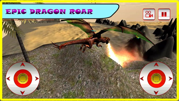 Flying Fire Dragon Flight Simulator 2016 – Train your blaze drake to fight jurassic war village screenshot-3