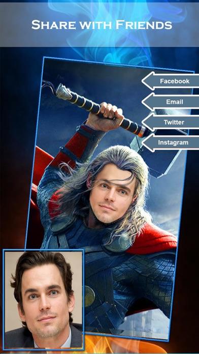 スーパーヒーローの顔チェンジャー2 - スーパーヒーローSuiteとのフェイススワップアプリ&面白い写真編集のスクリーンショット5