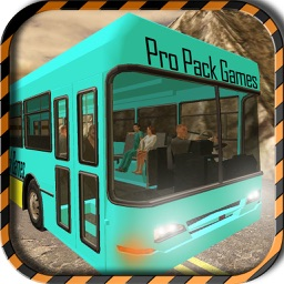 Dangerous Mountain & Passenger Bus Driving Simulator cockpit view – Transport riders safely to the parking