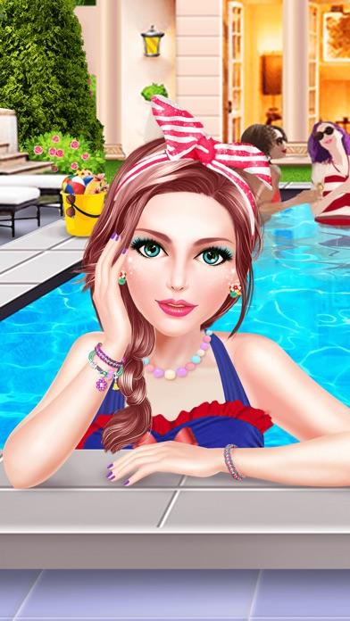summer splash pool party spa makeup makeover dressup game for