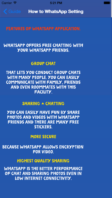 Guide for Whatsapp Free App Profile  Reviews, Videos and More