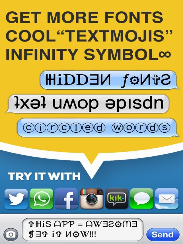 Symbolizer Fonts Keyboard With Fancy Emoji Symbols For Facebook And
