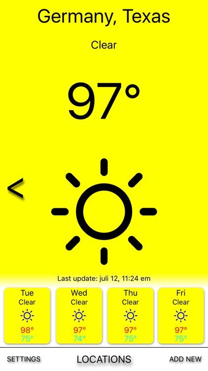 Yellow rain - Weather forecast screenshot-3