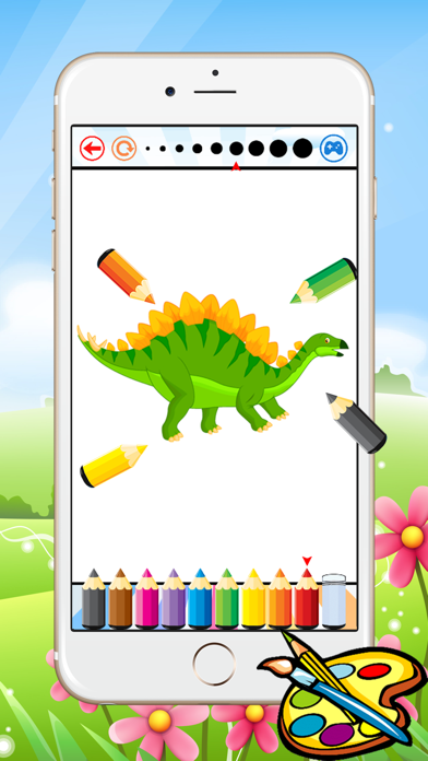 Dinosaur Dragon Coloring Book - Drawing for kid free game, Dino Paint and color games good screenshot four