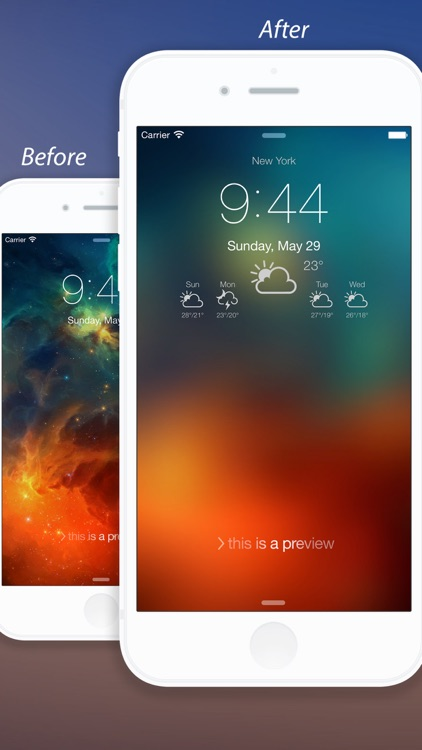 Weather Lock Screen - Customize your Lock Screen Backgrounds with Weather Forecast screenshot-1