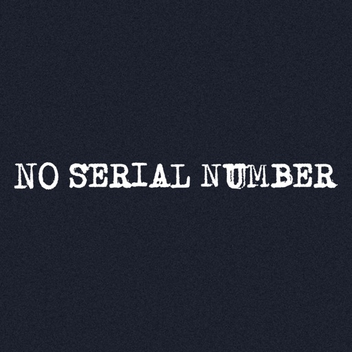 No Serial Number