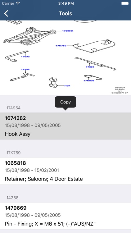 Ford Car Parts - ETK Parts Diagrams screenshot-3