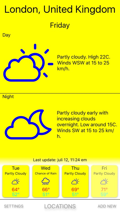 Yellow rain - Weather forecast screenshot-0