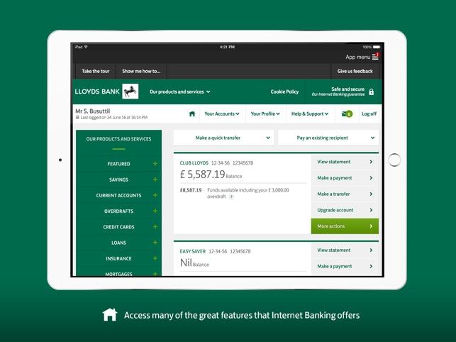 Lloyds bank express logon on the app store ipad screenshots colourmoves