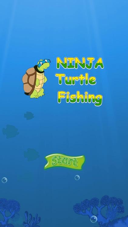 Turtle Fishing Catch a Big Fish in Deep Sea