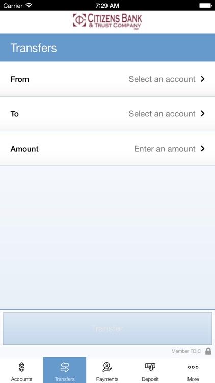 Citizens Bank & Trust Company Mobile App screenshot-4