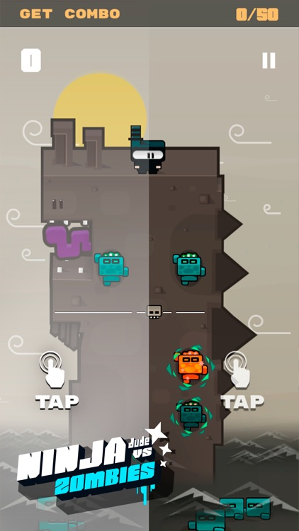 Ninja Dude vs Zombies - endless tap 'n' slash zombie arcade game screenshot-2