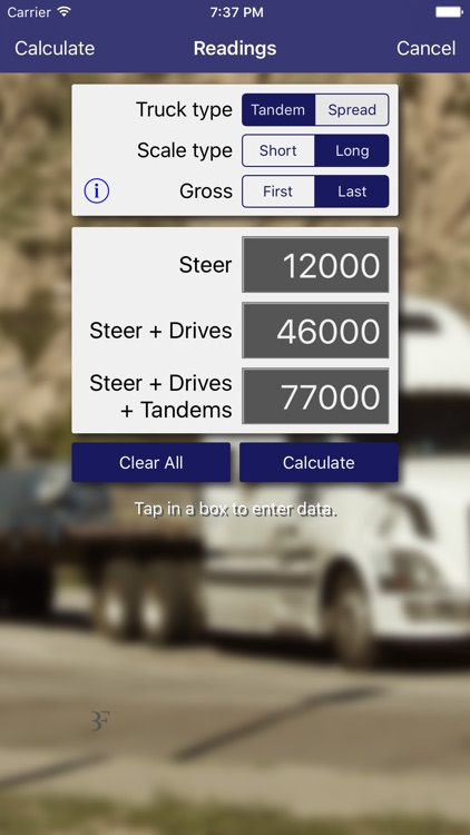 Truck Scale Calculator screenshot-1