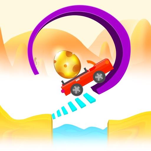 Tiny Car on Risky Road Adventure - Don't Fall the Big Golden Egg iOS App