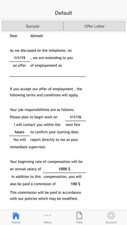 Job Offer Letter screenshot-0