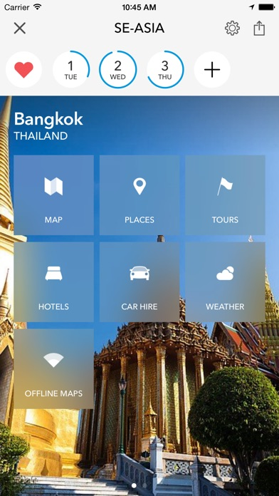 Trip Planner, Travel Guide & Offline City Map for Thailand, Indonesia, Malaysia, India, Cambodia, Vietnam and Singapore iPhone