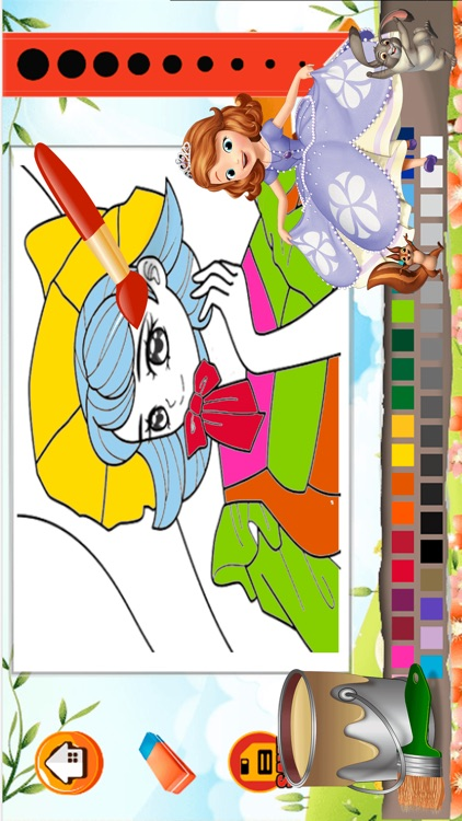 Princess Girls Coloring Book - All In 1 cute Fairy Tail Draw, Paint And Color Games HD For Good Kid screenshot-3