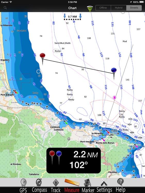 Gulf of Lion GPS Charts Pro screenshot-3