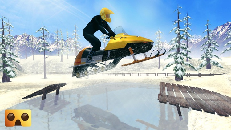 Snowmobile Simulator : VR Game for Google Cardboard screenshot-3