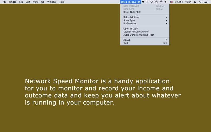 Network Speed Monitor Screenshot